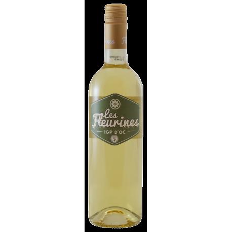 Les Fleurines Blanc, Chardonnay 2018.   Pays d'Oc, Frankrijk.