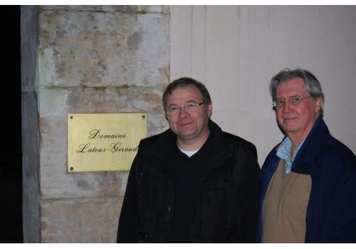 Jean-Pierre Latour van Domaine Latour Giraud (Meursault) en Henk Hoogeweegen (Vinami)